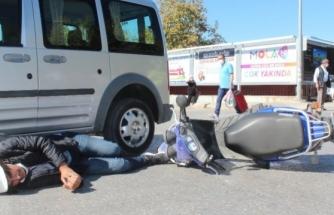 Menteşe'de Kaza! Motosiklet Sürücüsü Kıpırdamadan Ambulansı Bekledi