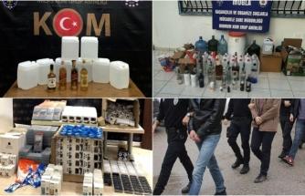 Muğla'daki Sahte İçki ve Kaçakçılık Operasyonunda 13 Tutuklama