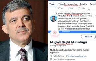 Muğla İl Sağlık Müdürlüğü Cumhuriyet Bayramı'nda Abdullah Gül'ün Mesajını Paylaştı