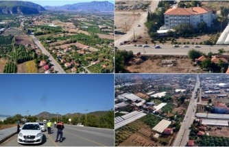 Ortaca'da Havadan Trafik Denetimi