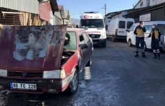 Fethiye'de Bir Otomobilde Çıkan Yangın Söndürüldü