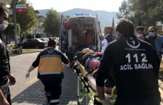 Fethiye'de, Kadın Motosiklet Sürücüsü Otomobille Çarpıştı!