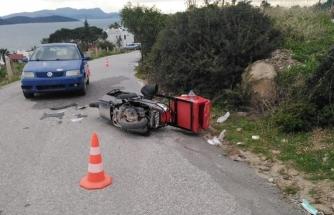Milas'ta Otomobille Çarpışan Motosikletin Sürücüsü Öldü