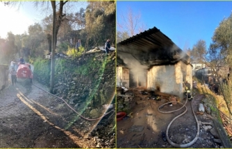 Milas'ta Faciayı Muğla Büyükşehir Belediyesi'nin Yangın Tankeri Önledi