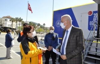 Simülasyonlu Deprem Tırı Marmaris'te