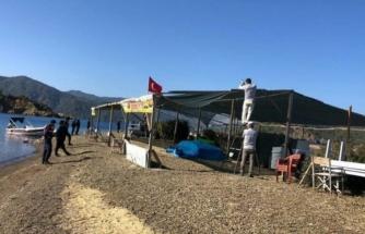 Fethiye'nin Dünyaca Ünlü Yassıca Adası'nda Kaçak Olduğu Tespit Edilen İşletme Yıkıldı