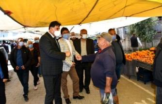 Fethiye'nin Karagedik Mahallesinde İlk Defa Açılan Pazaryeri Hizmete Sunuldu