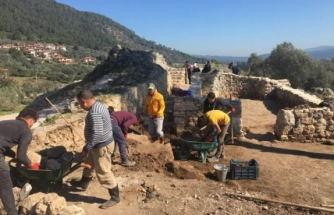 İdyma Antik Kenti ve Akyaka Ortaçağ Kalesi'nde Çalışmalara Başlandı