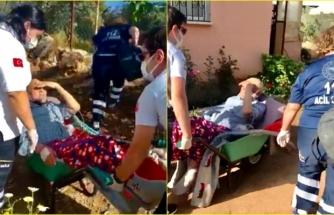 Fethiye'de Ambulansın Ulaşamadığı Hastayı 112 Çalışanlarının Mücadelesi Kurtardı