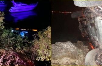 Marmaris'te Denize Doğru Yuvarlanan Araç Suya Gömülmekten Son Anda Kurtuldu