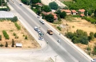 Ortaca'da Havadan ve Karadan Trafik Denetimi