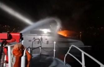 Bodrum'da İngiliz Bayraklı Teknede Çıkan Yangın Söndürüldü