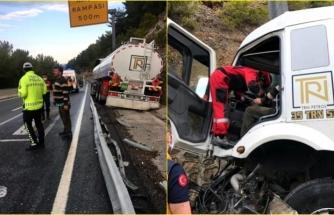 Sakartepe Rampasında Mazot Yüklü Tanker Şoförü Ölümden Döndü