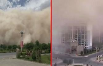 Kum Fırtınası Çin'i Yuttu! Saniyeler İçinde Şehir Kayboldu