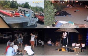 Marmaris'te Kalacak Yer Bulamayan Tatilciler Sahilde Konakladılar