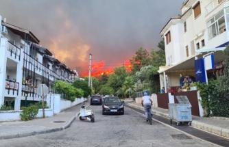 Marmaris'te Korkutan Yangın
