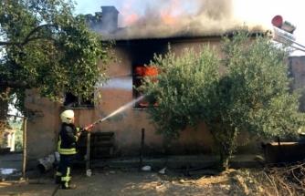 Yatağan'da Korkutan Ev Yangını