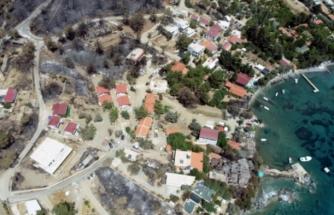 Alev Alev Yanan Mazı Mahallesi Havadan Görüntülendi