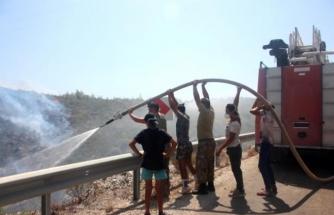 Bodrum'da Söndürme ve Soğutma Çalışması Sürüyor