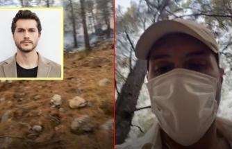 Çukur Dizisiyle Ünlenen Alperen Duymaz, Fethiye'de Yangın Söndürme Çalışmalarına Katıldı