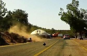 Bodrum'daki Çiftin Ağır Yaralandığı Kaza, Araç Kamerasına Yansıdı