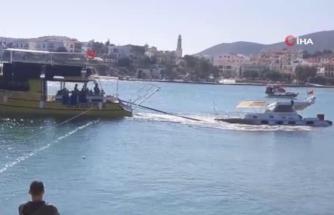 Datça'da Batan Lüks Tekne 5 Gün Sonra Kıyıya Çekildi