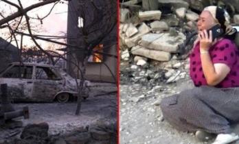 """Manavgat'ta Evi Yanan Kadından Acı Feryat: """"Böyle Acı mı Olur Allah'ım?"""""""