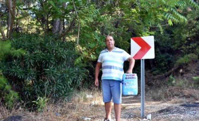 MARMARİS'TE ESNAFTAN ORMAN YANGINLARINA BİDONLU ÖNLEM