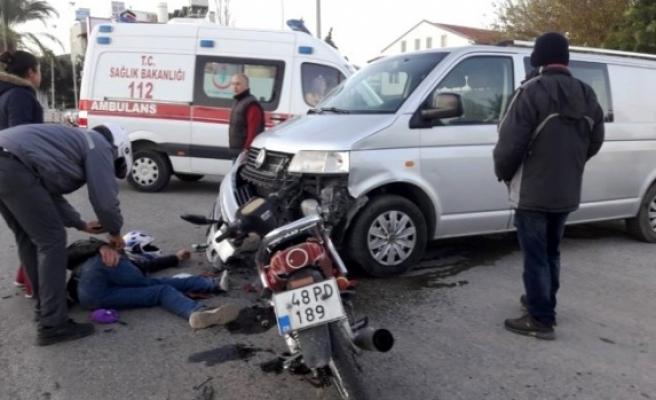 Fethiye'de Yaşanan Trafik Kazasında 1 Kişi Yaralandı