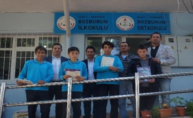 Marmaris Spor Kulübü'nden Bozburun Öğrencilerine Kitap