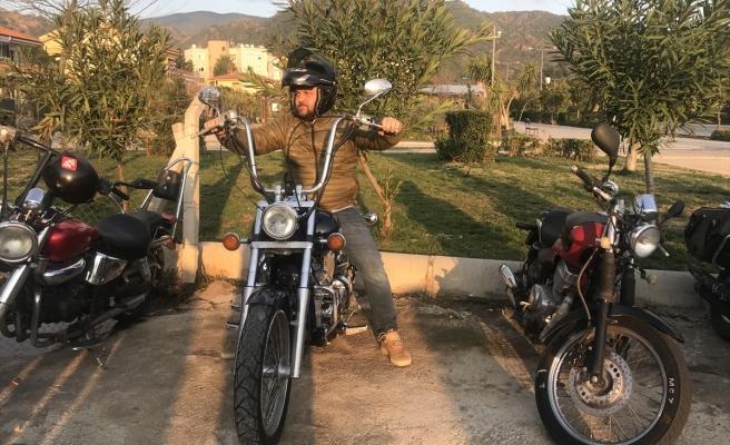 Marmaris Başkan Adayından Motorsikletle Şehir Turu