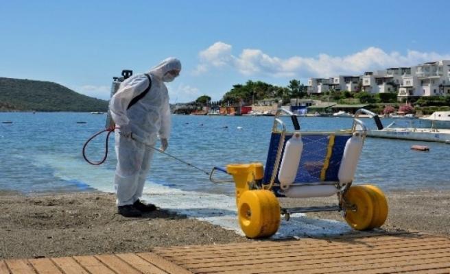 Büyükşehir Engelsiz Plajlarda Korona Önlemi Alıyor