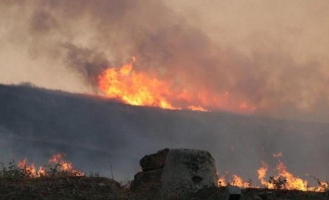 UNESCO Mirası Laodikya Antik Kentinde Yangın Çıktı