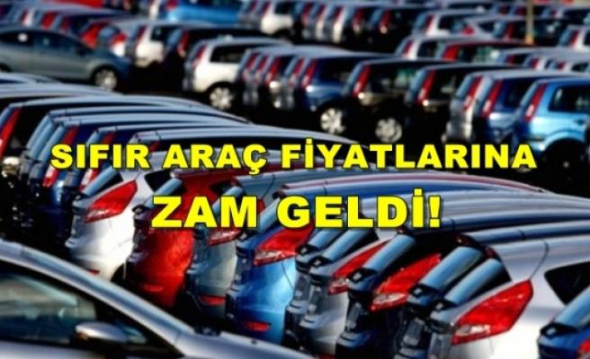 Sıfır Araç Fiyatlarına Ağustos Ayında 7 Bin Lira Zam Geldi!