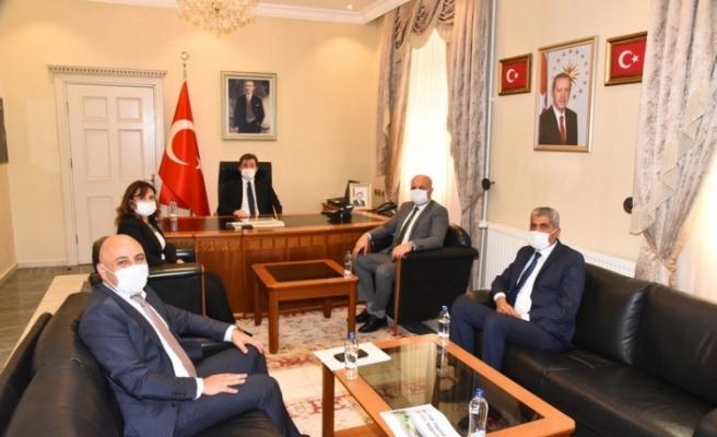 Ziraat Bankası Yöneticilerinden Vali Orhan Tavlı'ya Ziyaret
