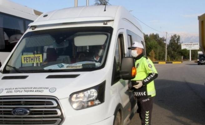 Fethiye'de Toplu Taşıma Araçlarına Koronavirüs Denetimi