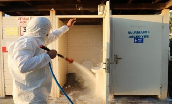 Marmaris'te Dezenfekte Çalışmalarına Hız Verildi
