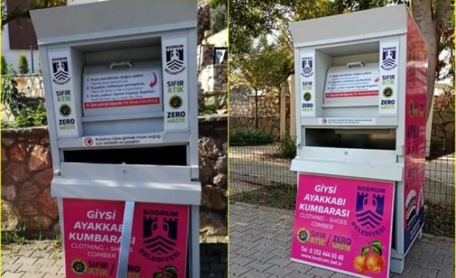 Bodrum'da 3 Kişi Yoksullar İçin Toplanan Kıyafetleri Çaldı!