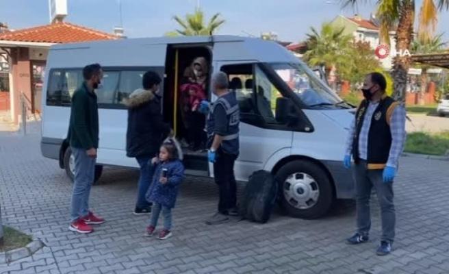 Fethiye'de İnşaat Halindeki Binada 35 Göçmen Yakalandı