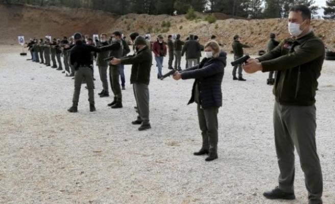 Muğla'da Ormancılara Silah Eğitimi Verildi
