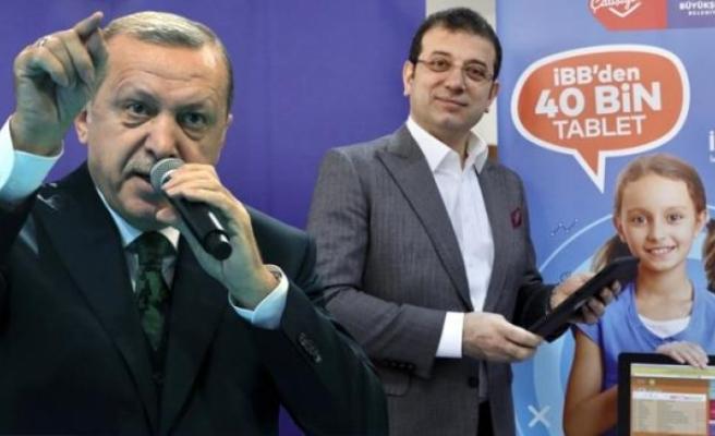 Erdoğan'dan İmamoğlu'na Tepki: Bizim İlçe Belediyemiz 50 Bin Tablet Dağıttı