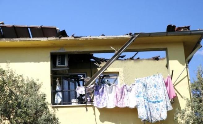 Fethiye'de Bir Ev Alev Alev Yandı