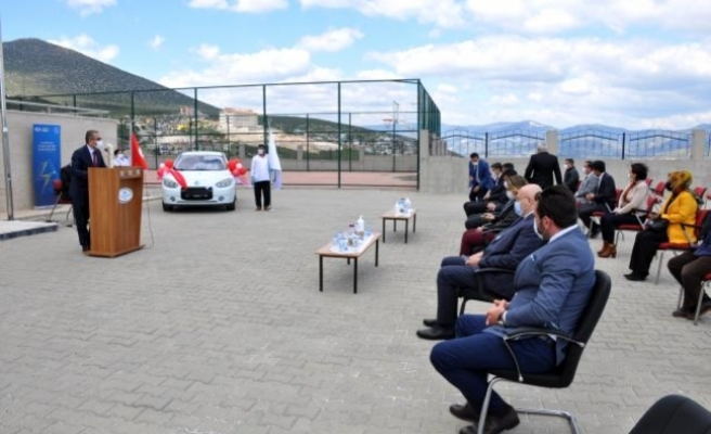 Milas Mesleki ve Teknik Anadolu Lisesi'ne Elektrikli Araç Hibe Edildi