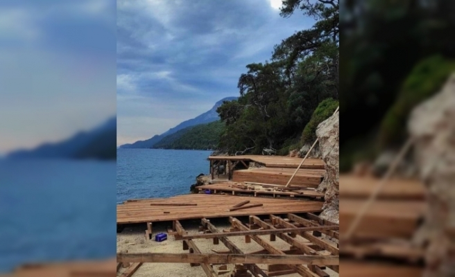 Akyaka'da Deniz Kıyısındaki Çalışmaya Yönelik Orman Bölge Müdürlüğü Açıklama Yaptı