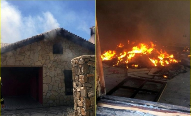 Menteşe'de Bulunan Metruk Binada Yangın