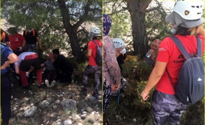 Seydikemer'de 4 Gündür Kayıp Olan Yaşlı Kadın Dere Yatağında Bitkin Halde Bulundu