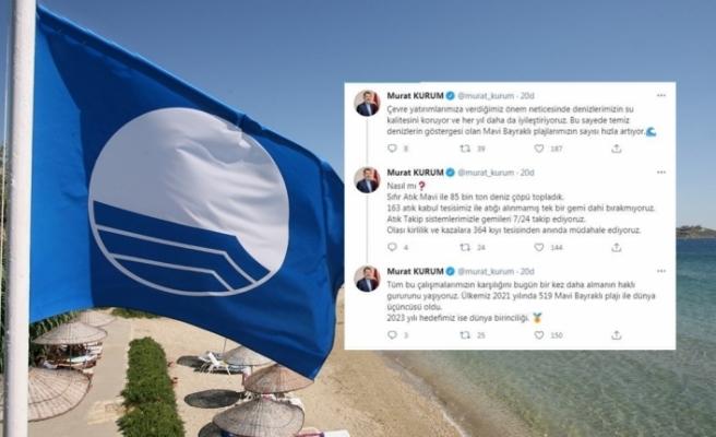 Türkiye'de Mavi Bayraklı Plaj Sayısı 519'a, Muğla'da 106'ya Yükseldi