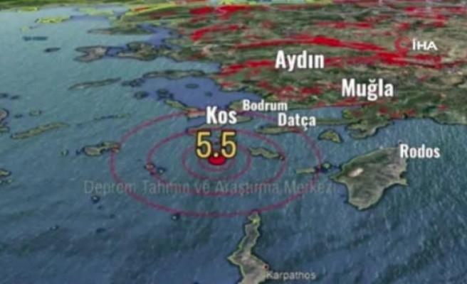 Datça Açıklarında Meydana Gelen 5,3 Büyüklüğündeki Deprem Korkuttu!