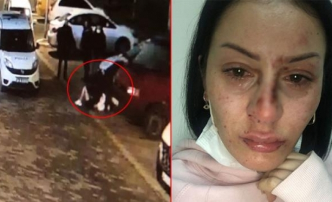 """Emniyet'ten Polisin Genç Kadına Darp Görüntülerine Açıklama: """"Alkollüydü, Çantayla Görevlilere Saldırdı"""""""