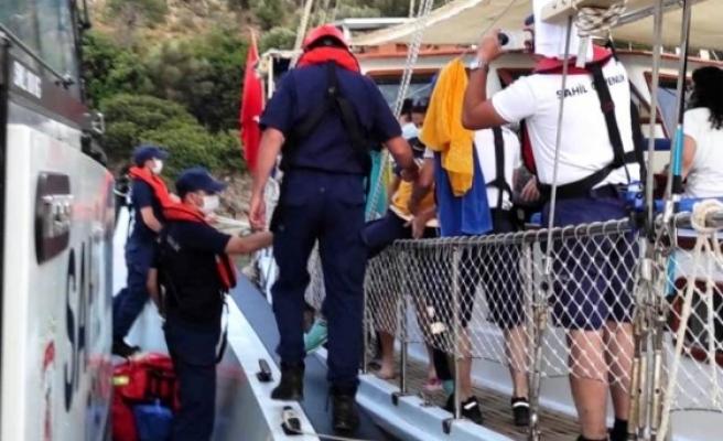 Fethiye'de Aslan Balığına Basan Vatandaş Hastaneye Kaldırıldı